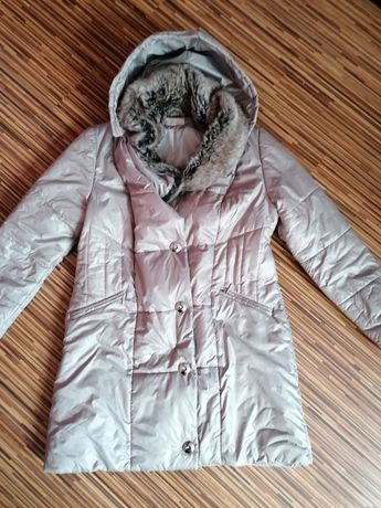 Kurtka zimowa płaszcz 44 płaszczyk odpinany kaptur