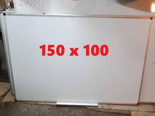 Доска магнитно-маркерная 150* 100 см в алюминиевой рамке (б/у)
