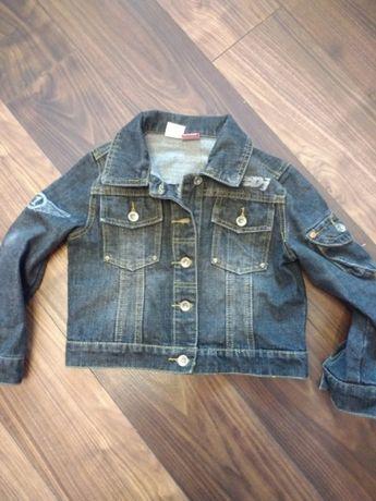 Джинсовый котоновый пиджак на мальчика 110 рост