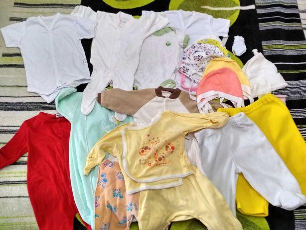 Продам пакет одежды для новорожденных