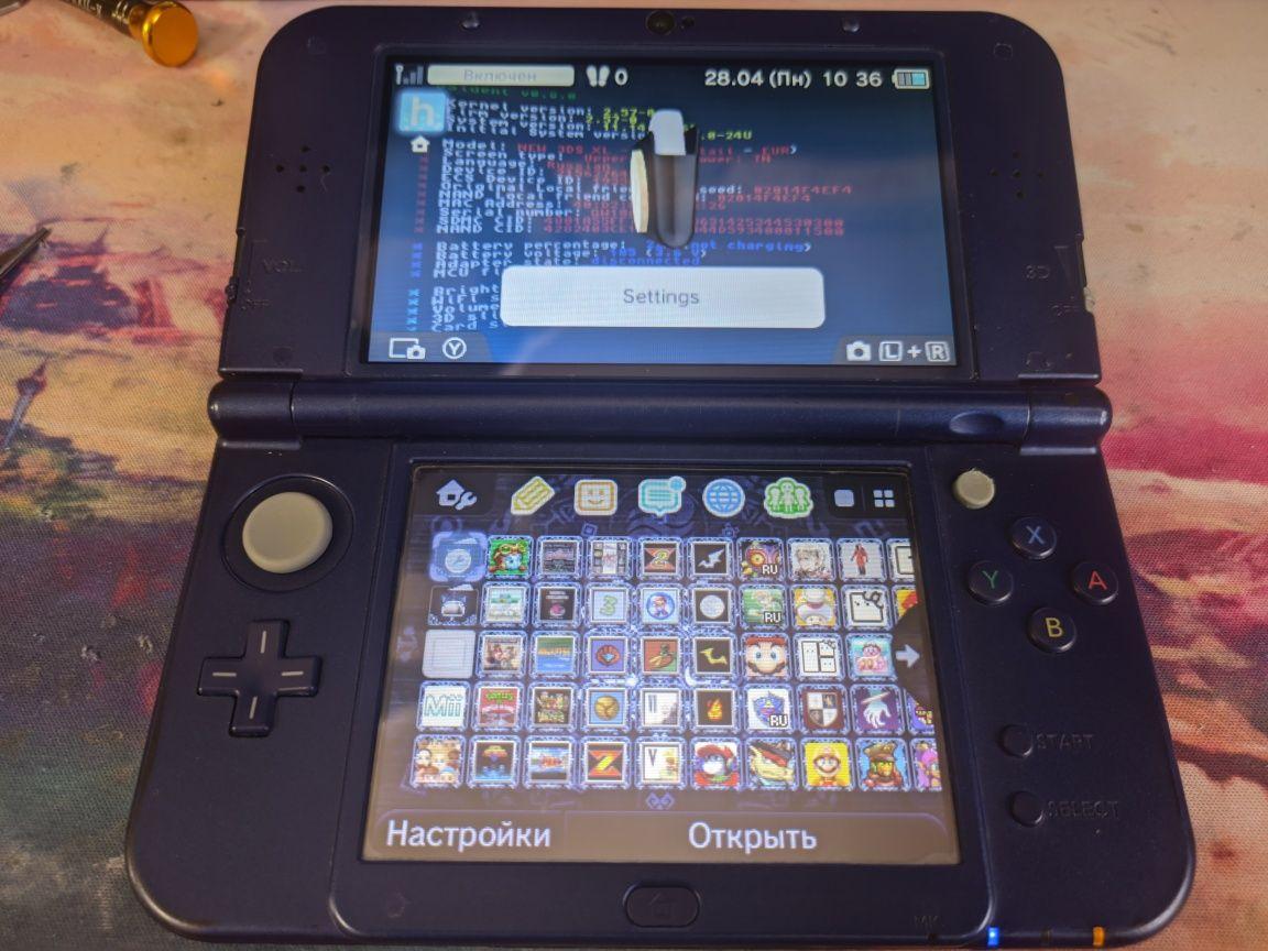 New Nintendo 3ds xl, прошитая, игры бесплатно, 16gb
