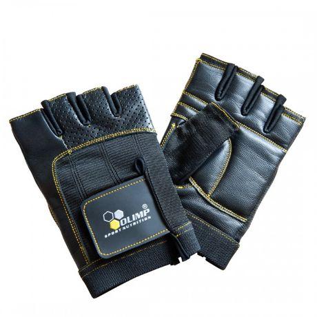 OLIMP RĘKAWICE TRENINGOWE rękawiczki na siłownię ONE + skóra