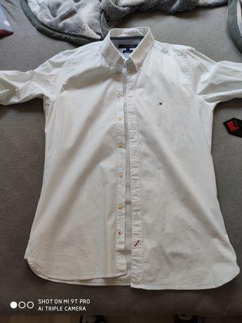 Koszula Tommy Hilfiger Biała roz. L długi rękaw