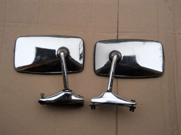 Nowe lusterka chromowane Fiat 125p 126p itp komplet 2 szt