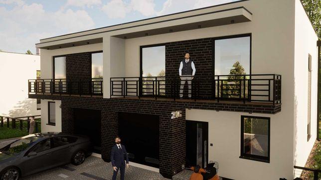 Nowe domy w zabudowie bliźniaczej  w malowniczym miejscu w Wojkowicach