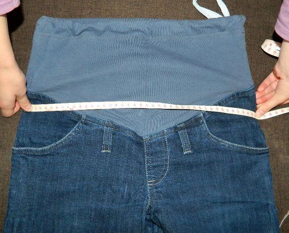Spodnie ciążowe, denim, M, stan bdb