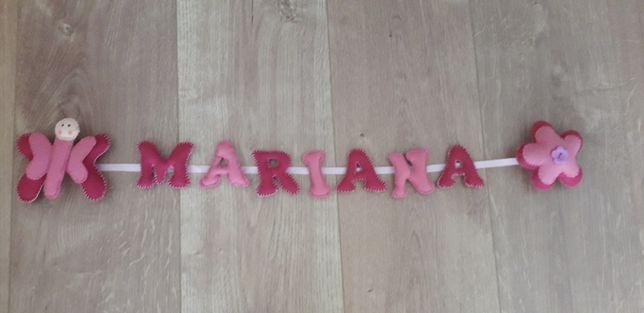 Letras em tecido MARIANA
