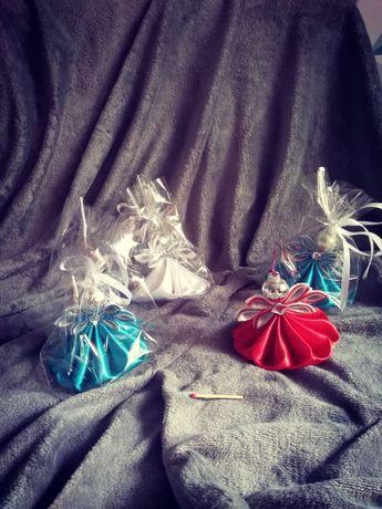 Aniołek, aniołki ze wstążki...na prezent, choinkę, bądź jako dekoracja