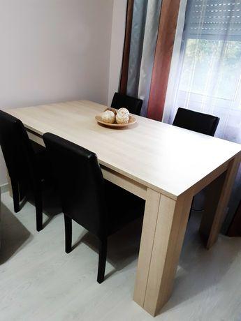 Mesa sala jantar nova com 4 cadeiras