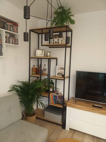 Kwietnik, stolik, regał, półka, stelaż - loft, industrial