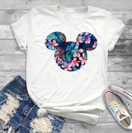 Disney koszulka bluzka t-shirt Mickey mouse kwiaty S-XXL