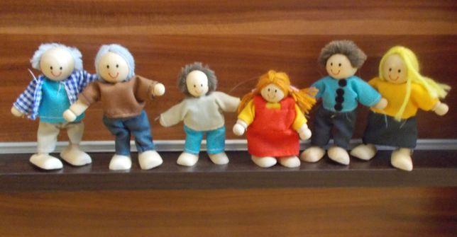 figurki do domku dla lalek. Drewniane. Nowe