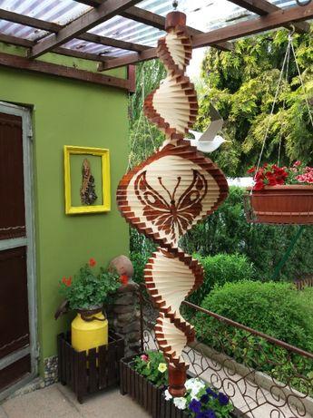 Kręciołki, ozdoba ogrodowa, ozdoba tarasowa, świderek, prezent - 60 cm