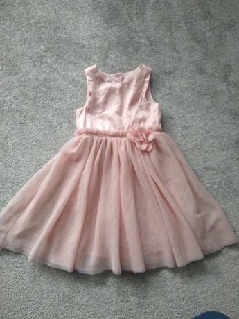 Sukienka H&M elegancka wizytowa tiulowa 98 104 do 110 brokatowa