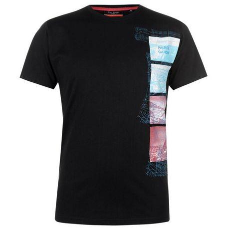 Czarna koszulka Pierre Cardin L
