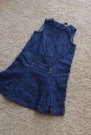 GAP 5 lat sukienka bezrekawnik dzinsowy jeans