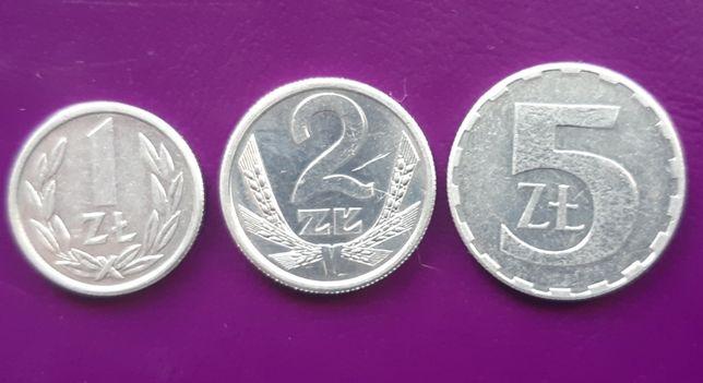 3 Monety/Moneta - PRL 1/2/5 zł 1989 - Piękne! Oryginały! Okazja!