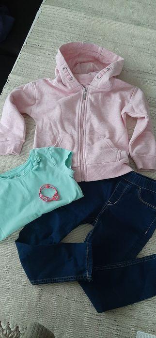 Zestaw nowy 4 5 lat 110 cm bluza F&F legginsy jeans koszulka LOL nr47 Krosno - image 1