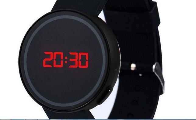 Relógio de pulso preto, Touch Screen LED