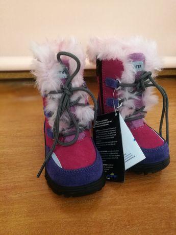 Kozaczki dziewczęce rozmiar 22 wodoodporne zimowe buty NOWE z metką