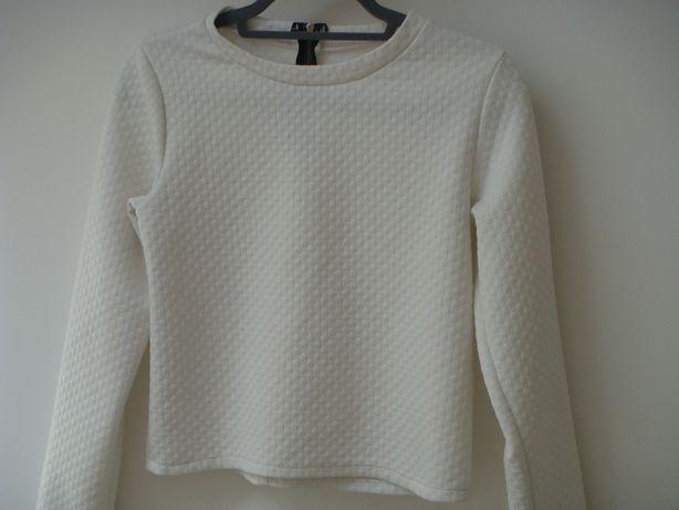 biały sweter / bluzka / kurtka dla dziewczynki 10 -12 lat - jak nowy
