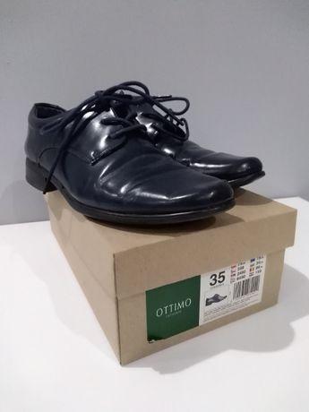 Buty chłopięce eleganckie granatowe