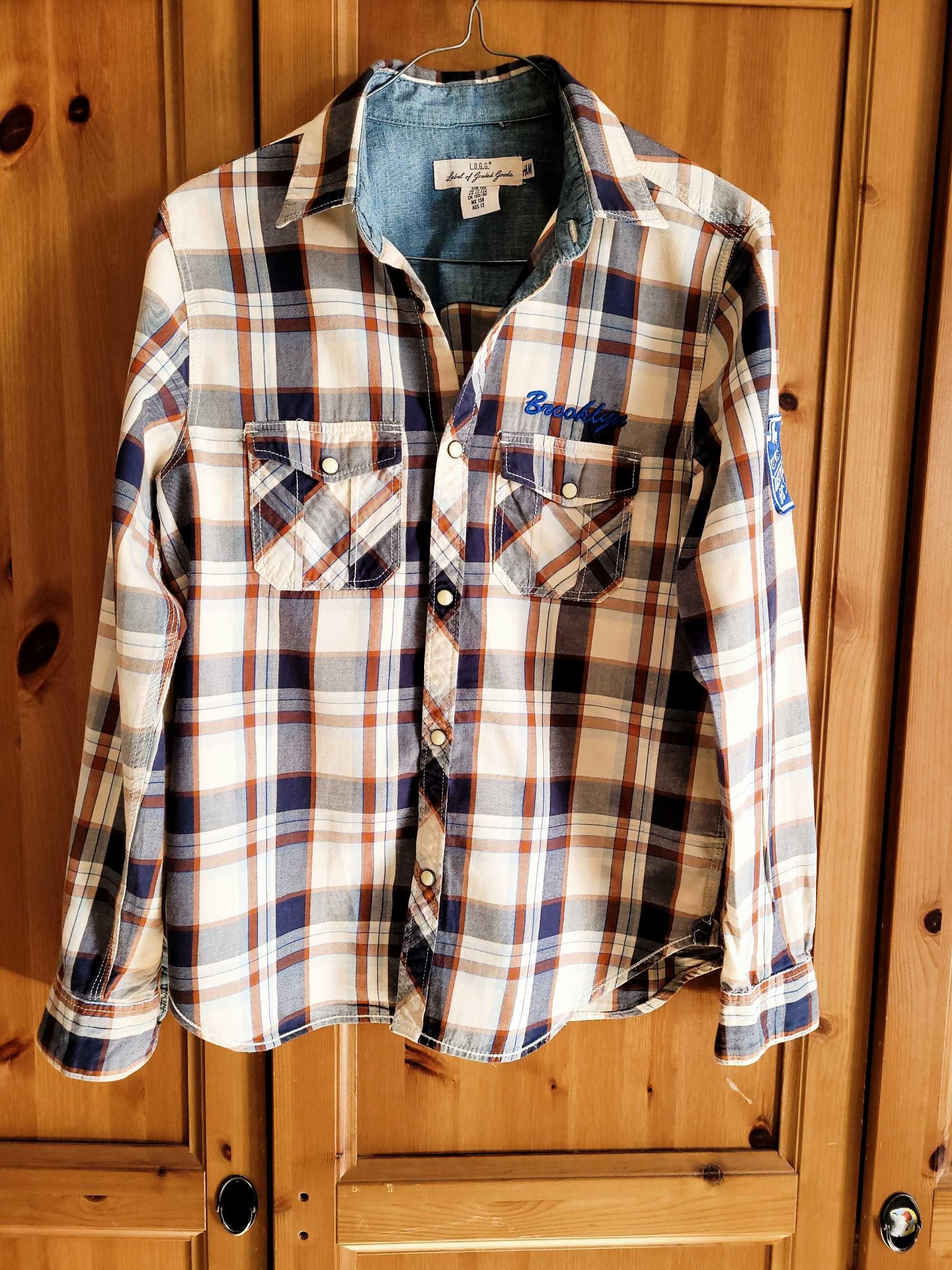 H&M stylowa koszula w kratę - z szafy Bolka i Lolka