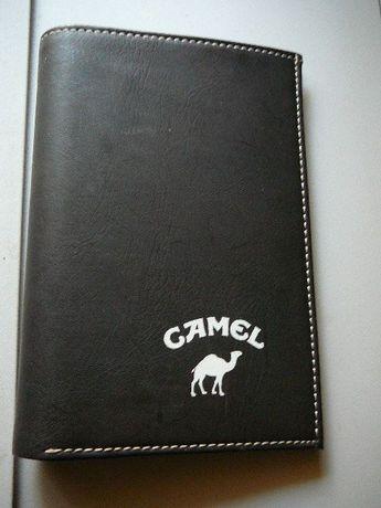 CAMEL portfel duży i czarny skórzany