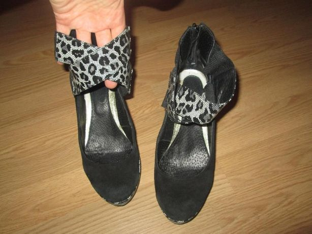 туфли кожа замш