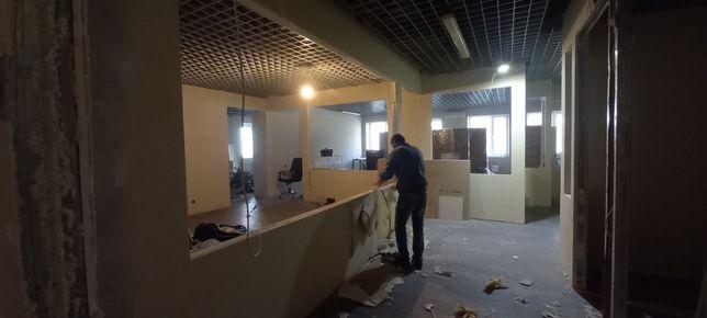 Демонтаж плитки,дверей,мебели,газоблока,перегородок