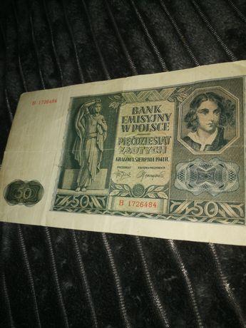 Продам 50 злотих 1941року оригінал
