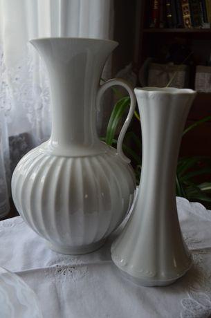 wazon porcelana biel, relief, sygnowany KPM, Rosenthal