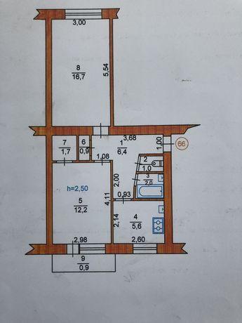 Продам 2к квартиру центр 1- й поверх
