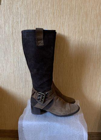 Сапоги кожаные сапожки демисезонные 37 размер