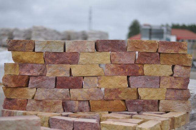 Cegła z piaskowca/ kamień naturalny/ piaskowiec/ cegiełka