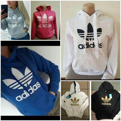 Bluzy damskie z logo Adidas kolory S-XL!!!