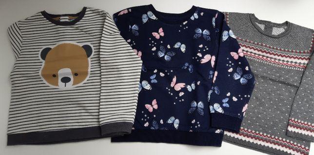 Leginsy, sweterki, sukienki, bluzy, bluzki bawełniane.
