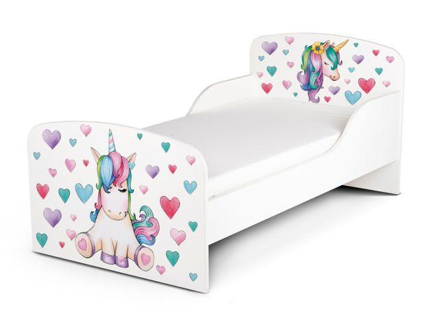 Łóżko drewniane dla dzieci Jednorożec
