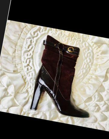 Стоили свыше 100€ Итальянские новые кожаные замшевые лаковые ботинки