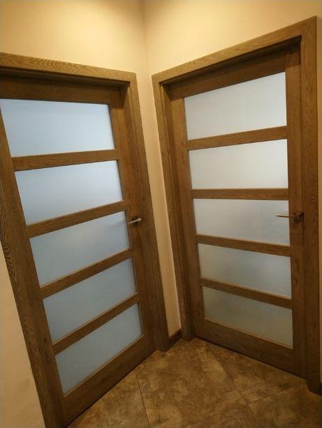 Drzwi Porta 2 Sztuki + Framugi + Klamki