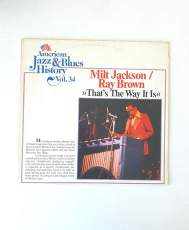 "Vinil - Milt Jackson/Ray Broun /""That's The Way It Is""(1977)"