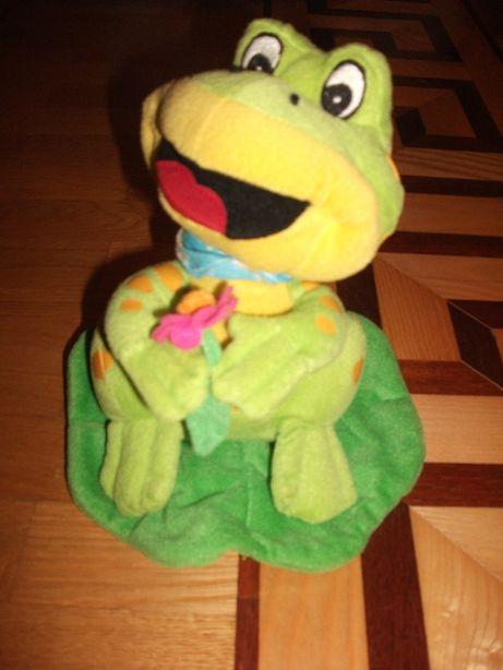 Лягушонок говорящий мягкая игрушка