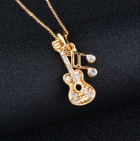 Уникальное женское ожерелье гитара