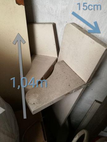2 prateleiras brancas em madeira maciça 1,04m x 15cm