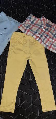 Rurki, spodnie chłopięce, żółte 80/86