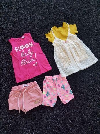 Летние вещи для девочки, платье, шорты, футболка