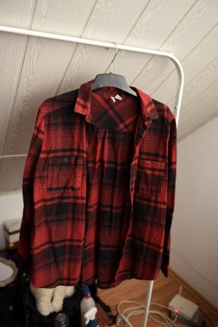koszula w kratę h&m oversize