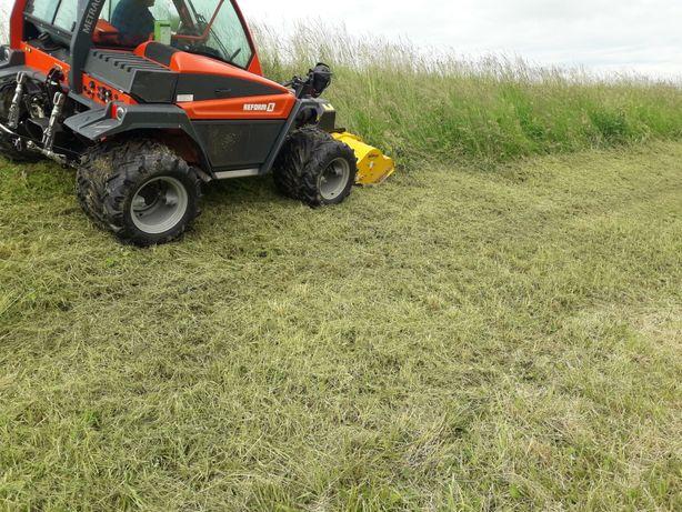 Mulczowanie koszenie nieużytków łąki działki budowlane  glebogryzarka
