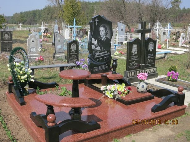 Укладка плитки на кладбище -тротуарная, кафель, гранит. Памятники