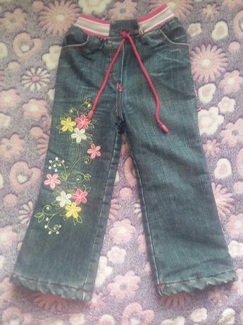 Продам детские утеплённые джинсы на девочку